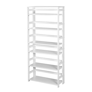 "Flip Flop 67"" High Folding Bookcase- White"