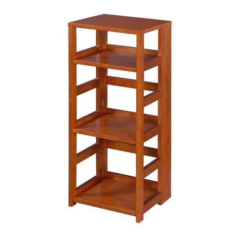 Copper Grove Matthiola Flip Flop 34-inch High Square Folding Bookcase