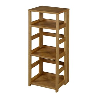 Clay Alder Home Gold Brook Flip Flop 34-inch High Square Folding Bookcase