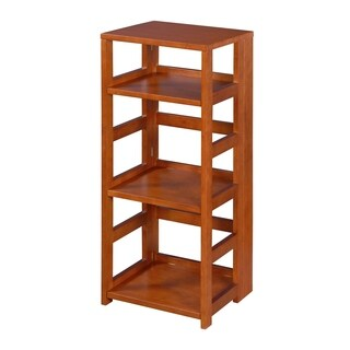 Clay Alder Home Gold Brook Flip Flop 34-inch High Square Folding Bookcase