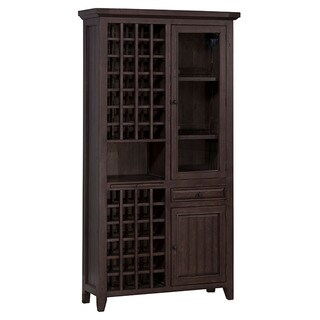 The Gray Barn Red River Weathered Timber Wood Wine Storage Cabinet