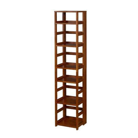 Copper Grove Matthiola Flip Flop 67-inch Square Folding Bookcase