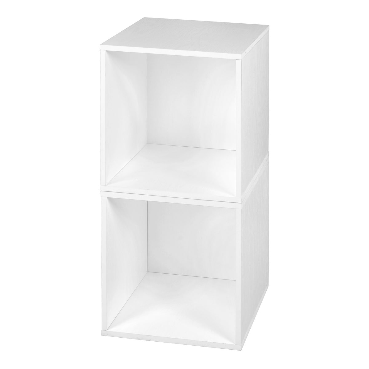 Niche Cubo Stackable Storage Cubes- White (2 pack- white)