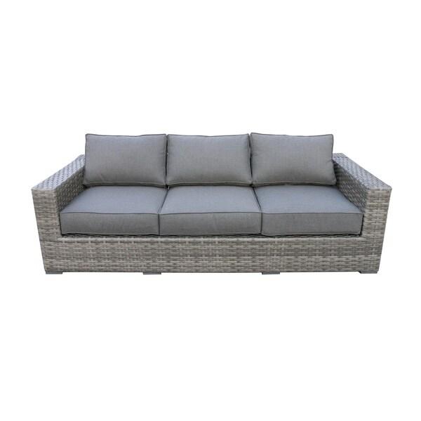 Shop Bali Tan Wicker Rattan Sofa Free Shipping Today