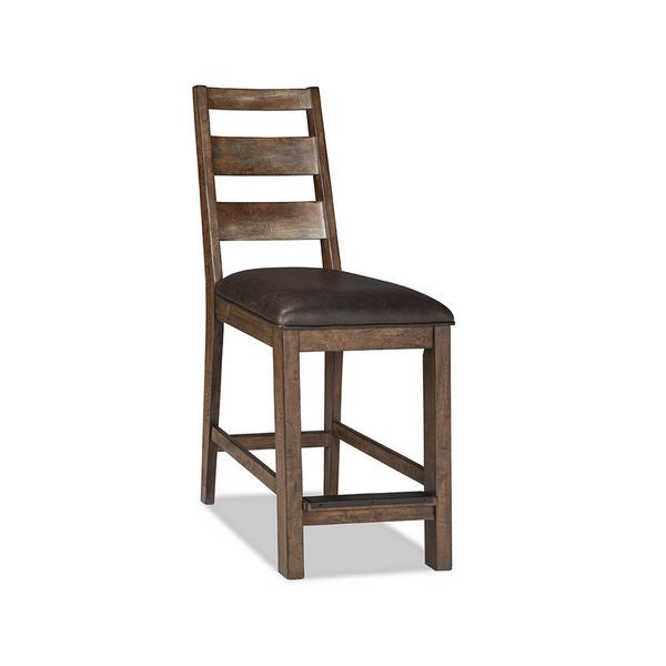 Shop Taos Canyon Brown Rustic 24 Inch Ladderback Barstool