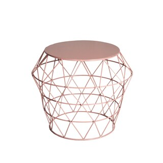 Amrah Home Dusty Pink Meet Contemporary Drum Table/Stool