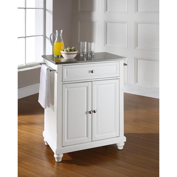 astonishing white portable kitchen islands | Shop Cambridge Stainless Steel Top Portable Kitchen Island ...