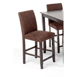 Intercon Lofts Chocolate Microfiber Parsons 24 Inch Barstool - 2 pack