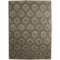 "Antirut Hand Knotted Area Rug (9'1"" X 12'4"")"