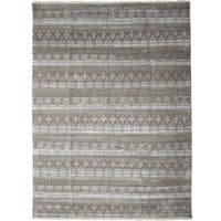 Olamam Hand-knotted Grey Wool Area Rug (9'1 x 12'2)