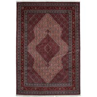 Balighada Red Wool Hand-knotted Area Rug (7' x 10'6 )