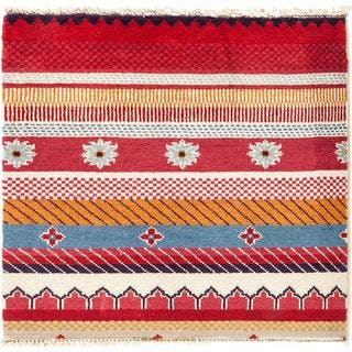 """Kanabra Hand Knotted Area Rug (2'1"""" X 2'2"""")