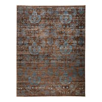 Kabes Hand-knotted Brown Wool Area Rug - 9'1 x 11'10