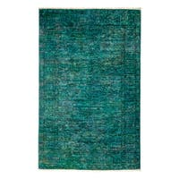 Overdyed Zagannoud Hand Knotted Area Rug - 4' X 5'10""