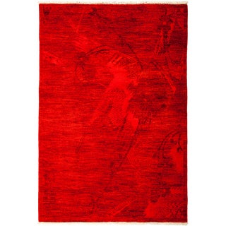 """Overdyed Hara Hand Knotted Area Rug (4'1"""" X 5'10"""")"""