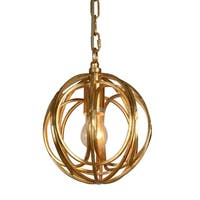 Y-Decor 1 light Orb Pendant Light in Gold finish