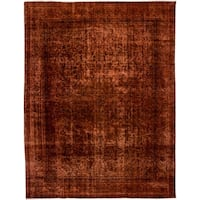 """Distressed Kemanoluk Hand Knotted Area Rug - 9'4"""" X 12'"""