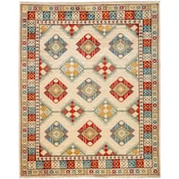 Qatif Multicolored Wool Hand-knotted Area Rug - 8'6 X 10'2