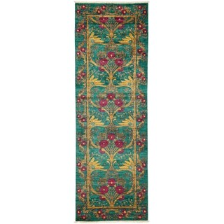"""Haseir Hand Knotted Runner Rug - 2'9"""" X 7'10"""""""