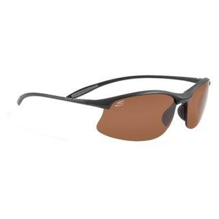 Serengeti Maestrale Men's Satin Black Driver's Gold Sunglasses
