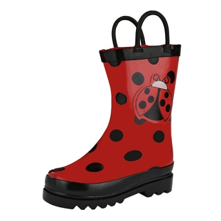 Puddle Play Little Girl's Red Ladybug Rain Boots Sizes - Toddler/Little Kids