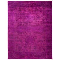 Pink Wool Overdyed Khanabja Hand-Knotted Area Rug (9'1 X 11'10)