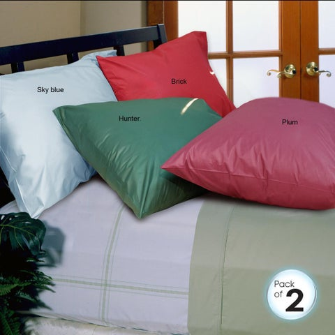 Cotton 250 Thread Count Pillowcases (Set of 2)