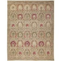 Qufal Hand-knotted Area Rug - 9'1 x 10'3