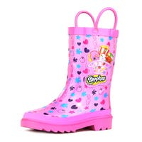 Shopkins Girl's Pink Rain Boots (Toddler / Little Kids)