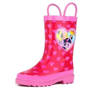 My Little Pony Rainbow Girl's Pink Rain Boots (Toddler / Little Kids)