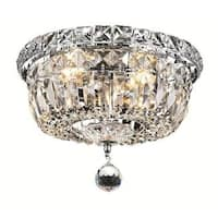 Living District Wiley Collection Chrome Flush Mount