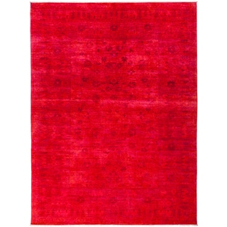 Gereca Hand-knotted Overdyed Area Rug (9' x 12'1)