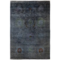 "Overdyed Bafudhah Hand Knotted Area Rug - 4'1"" X 6'5"""