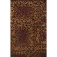 Hand-tufted Bryant Brown/ Spice Rug - 5' x 7'6