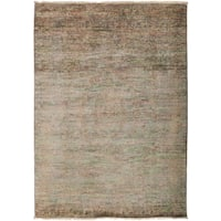 "Overdyed Lihyanura Hand Knotted Area Rug - 4'1"" X 6'6"""