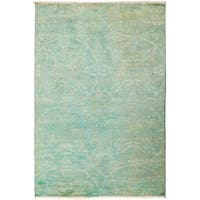 "Overdyed Nabayum Hand Knotted Area Rug (4'1"" X 6'1"")"