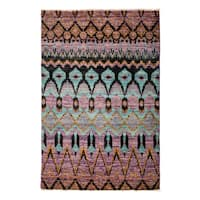 "Najasit Hand Knotted Area Rug - 4'1"" X 6'2"""