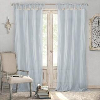 Elrene Jolie Tie-top Curtain Panel
