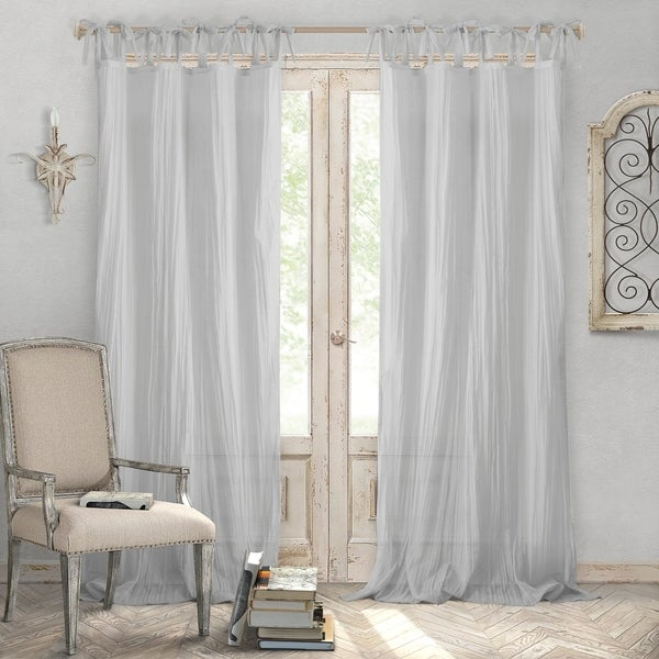 Shop Elrene Jolie Tie-top Curtain Panel - On Sale - Free Shipping On ...