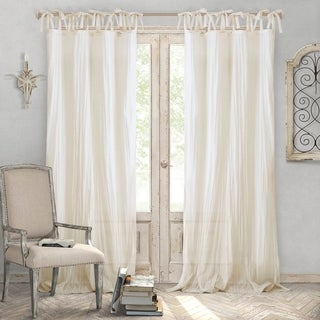Link to Elrene Jolie Tie-top Curtain Panel Similar Items in Curtains & Drapes