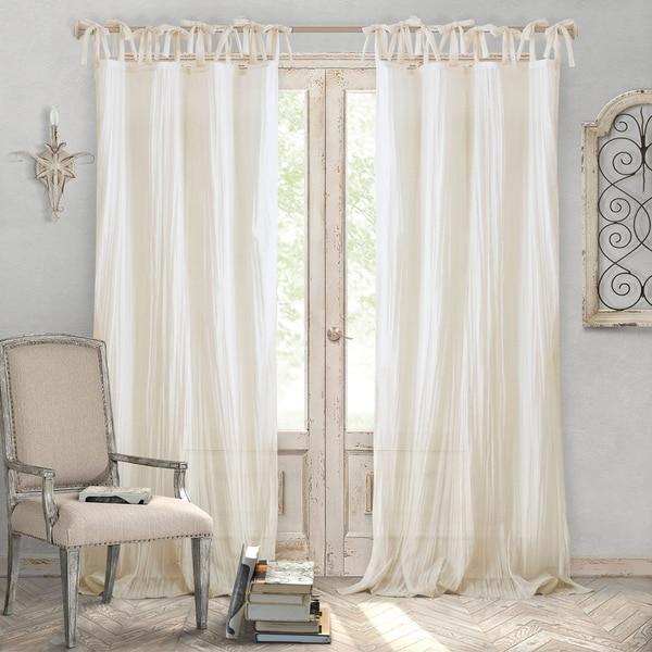 Elrene Jolie Tie-top Curtain Panel