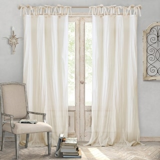 Elrene Jolie Tie-top Curtain Panel - N/A