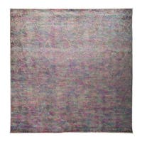 Mashna Overdyed Purple Wool Hand-knotted Area Rug - 8'10 x 9'