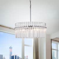 Casandra 4-light Chrome Pendant Crystal Chandelier