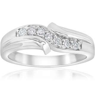 14k White Gold 1/4 ct TDW Diamond Mens Wedding Ring (I-J,I2-I3)