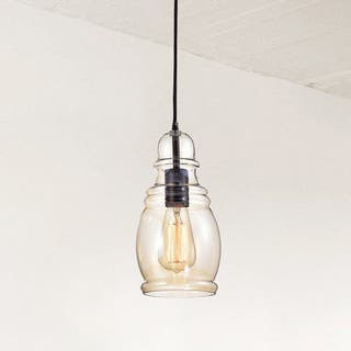 Buy mini pendant lights online at overstock our best lighting mariana antique black mini pendant with cognac long oval skinny glass aloadofball Images