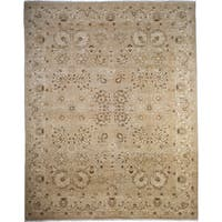 Damaqah Hand-knotted Beige Wool Area Rug (8'2 x 10'2)