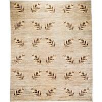 Taburashi Beige Wool Hand-knotted Area Rug (8'3 x 10'3)