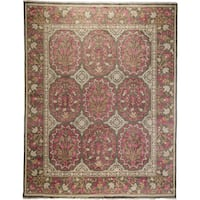 Fallurah Pink/Beige Wool Hand-knotted Oriental Area Rug - 8' x 10'4
