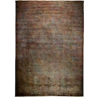 Junanawat Hand-knotted Overdyed Brown Wool Area Rug - 9'10 x 13'9